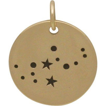 Virgo Constellation Jewelry Charms - Bronze 18x15mm