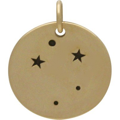 Libra Constellation Jewelry Charms - Bronze 18x15mm