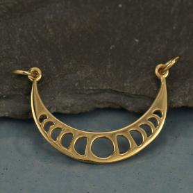 Moon Phases Pendant Link - Bronze 22x27mm