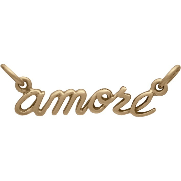 Cursive Amore Pendant Link - Bronze DISCONTINUED