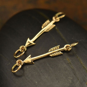 Bronze Arrow Charm Link -29mm