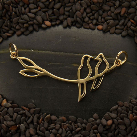 Birds on a Branch Pendant Bronze Links DISCONTINUED