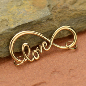 Infinity Pendant with Love Script - Bronze DISCONTINUED