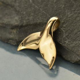 Whale Tail Jewelry Charm - Bronze 15x15mm