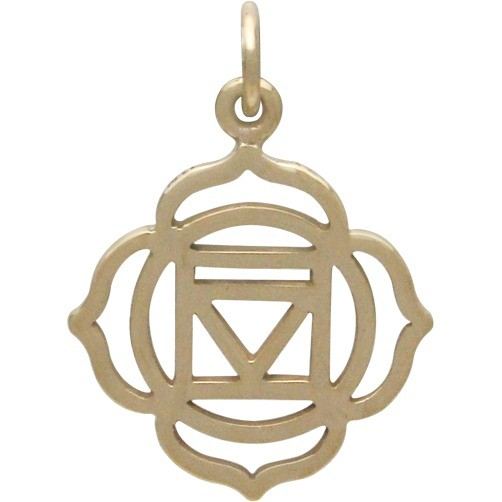 Root Chakra Jewelry Charm - Bronze 22x16mm