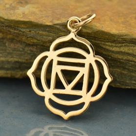 Root Chakra Jewelry Charm - Bronze 22x16mm