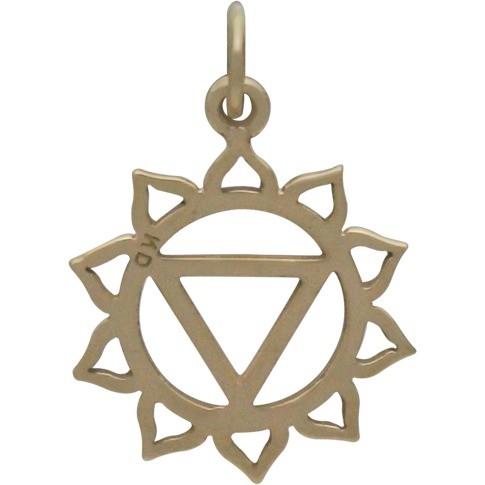 Solar Plexus Chakra Jewelry Charm - Bronze