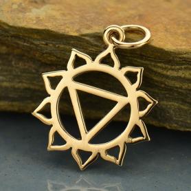 Solar Plexus Chakra Jewelry Charm - Bronze 21x15mm
