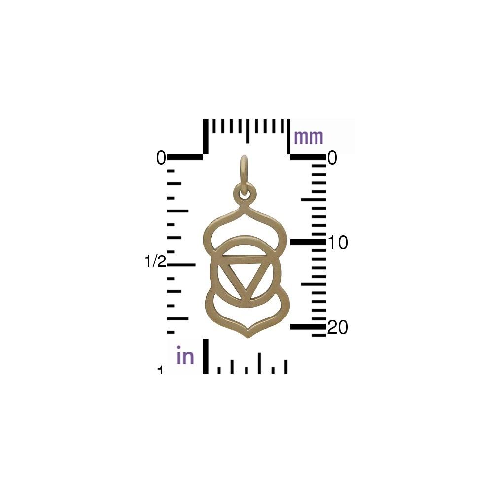 Third Eye Chakra Jewelry Charm - Bronze 23x10mm