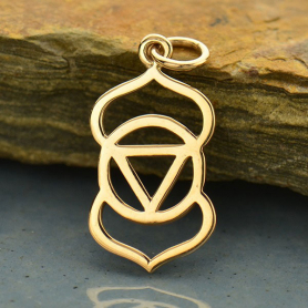 Third Eye Chakra Jewelry Charm - Bronze