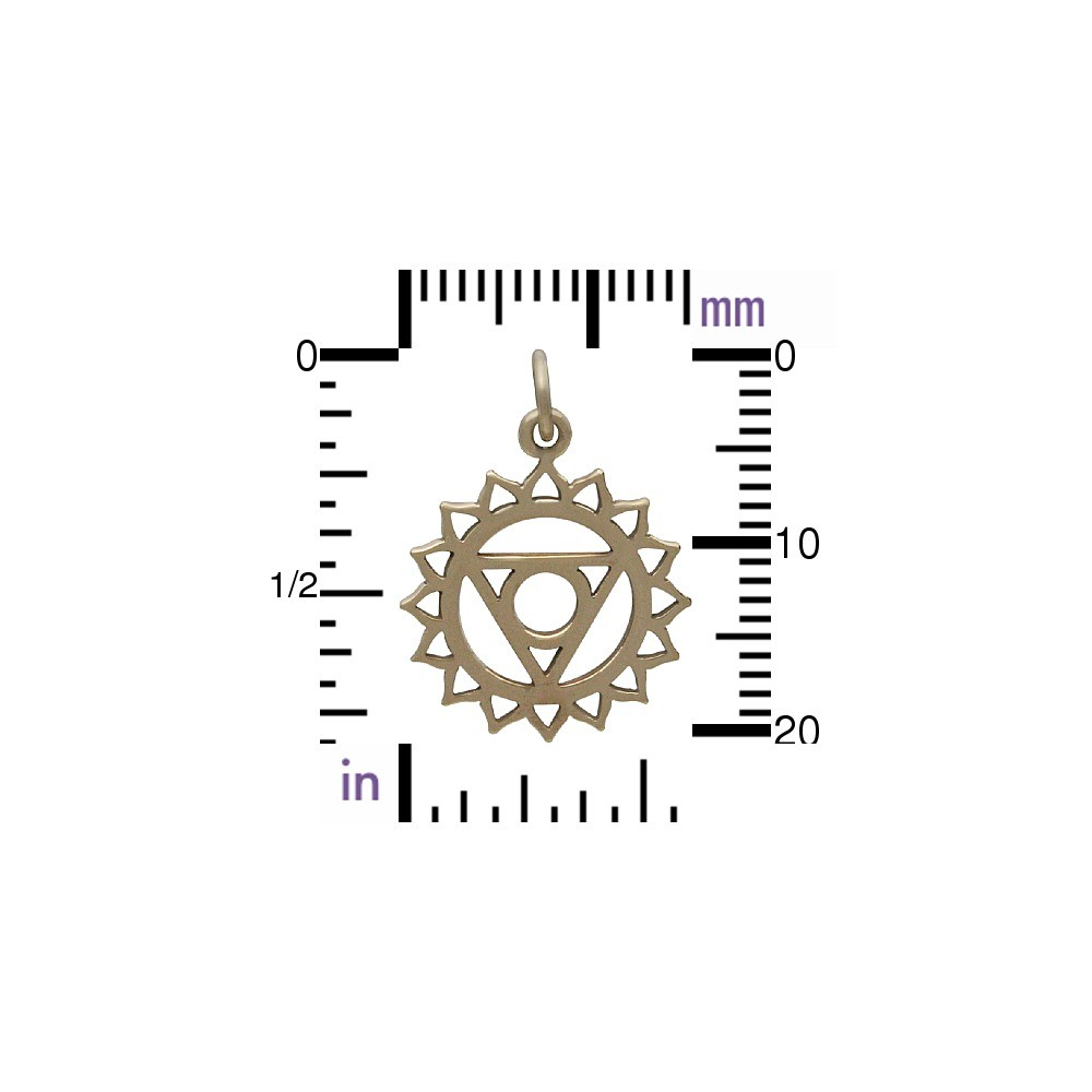 Throat Chakra Jewelry Charm - Bronze