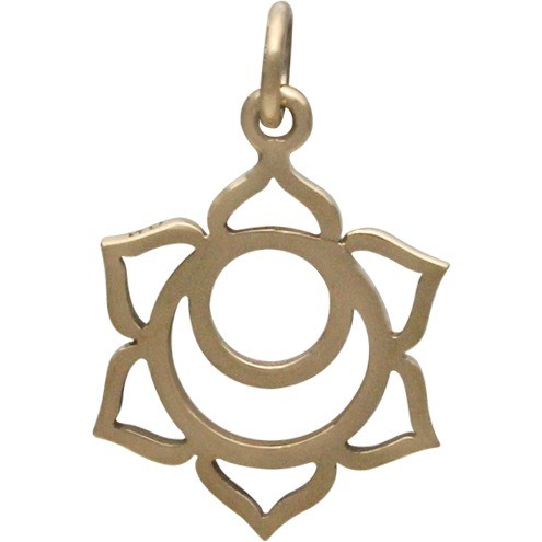 Sacral Chakra Jewelry Charm - Bronze 22x14mm