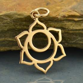 Sacral Chakra Jewelry Charm - Bronze 22x14mm