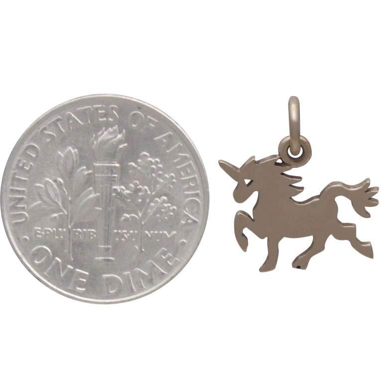 Bronze Flat Unicorn Charm