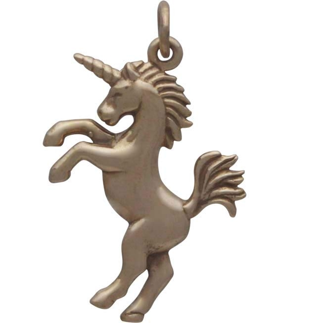 Bronze 3D Unicorn Charm