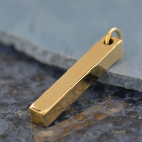 Rectangular Jewelry Pendant - Bronze