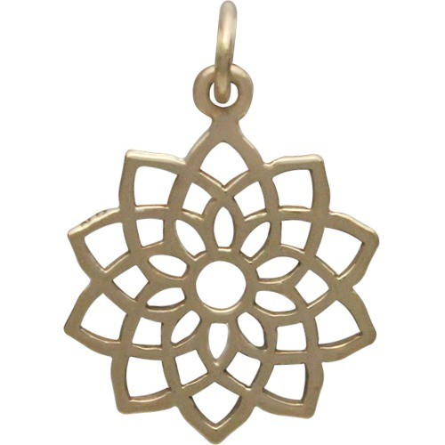 Crown Chakra Jewelry Charm - Bronze 22x15mm