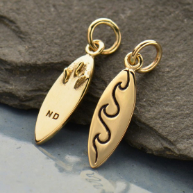 Surfboard Jewelry Charm - Bronze DISCONTINUED