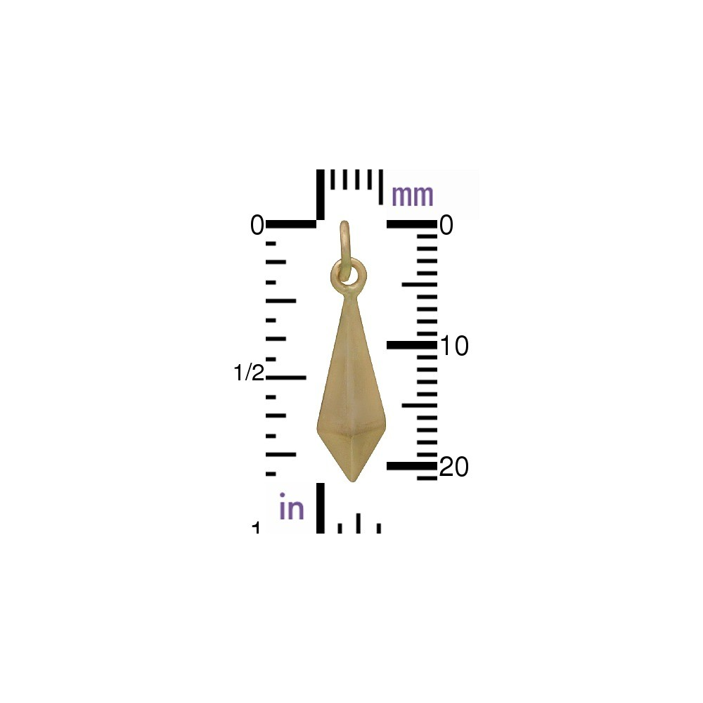 Large Inverted Spike Jewelry Charm - Bronze DISCONTINUED