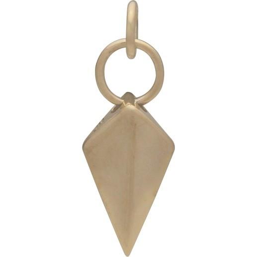 Spike Shield Jewelry Charm - Bronze 22x8mm