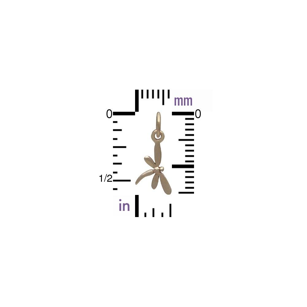 Tiny Dragonfly Jewelry Charm - Bronze 17x9mm
