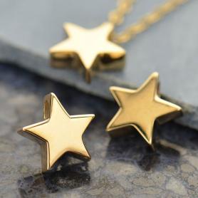 Small Star Bead - Bronze 9x9mm