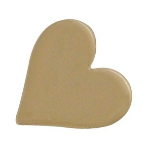 Large Heart Bead - Bronze 10x10mm
