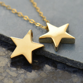 Large Star Bead - Bronze 12x13mm