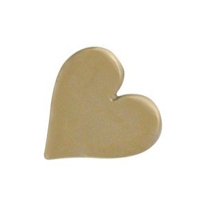 Small Heart Bead - Bronze 7x8mm