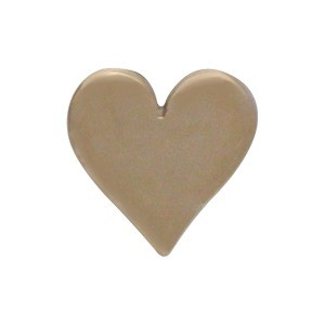 Small Heart Bead - Bronze