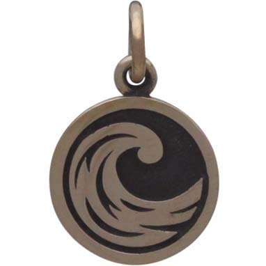 Bronze Four Elements Water Charm 16x10mm