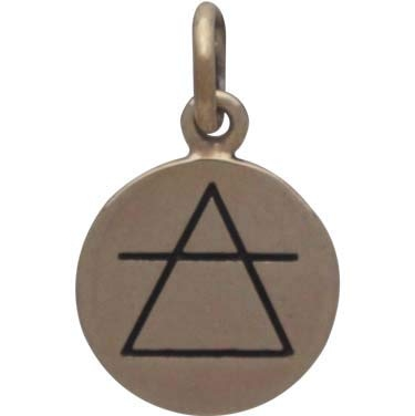 Bronze Four Elements Air Charm 16x10mm