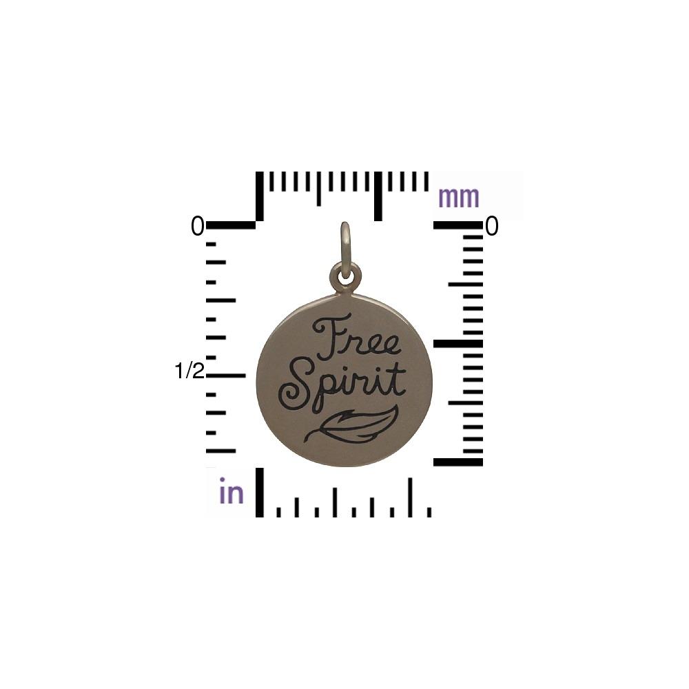 Free Spirit Message Pendant - Bronze DISCONTINUED