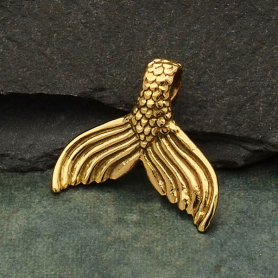 Bronze Mermaid Tail Pendant