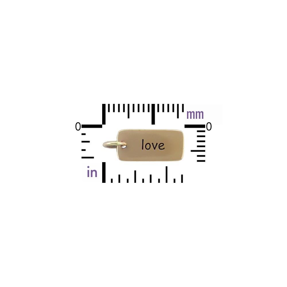 Love Word Jewelry Charm - Bronze 18x7mm