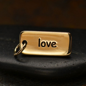Love Word Jewelry Charm - Bronze 18x7mm