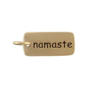 Namaste Word Jewelry Charm - Bronze