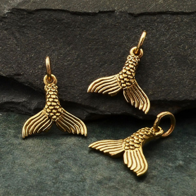 Bronze Mermaid Tail Charm