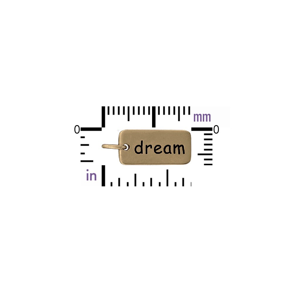 Dream Word Jewelry Charm - Bronze 18x7mm