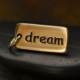 Dream Word Jewelry Charm - Bronze 18x7mm