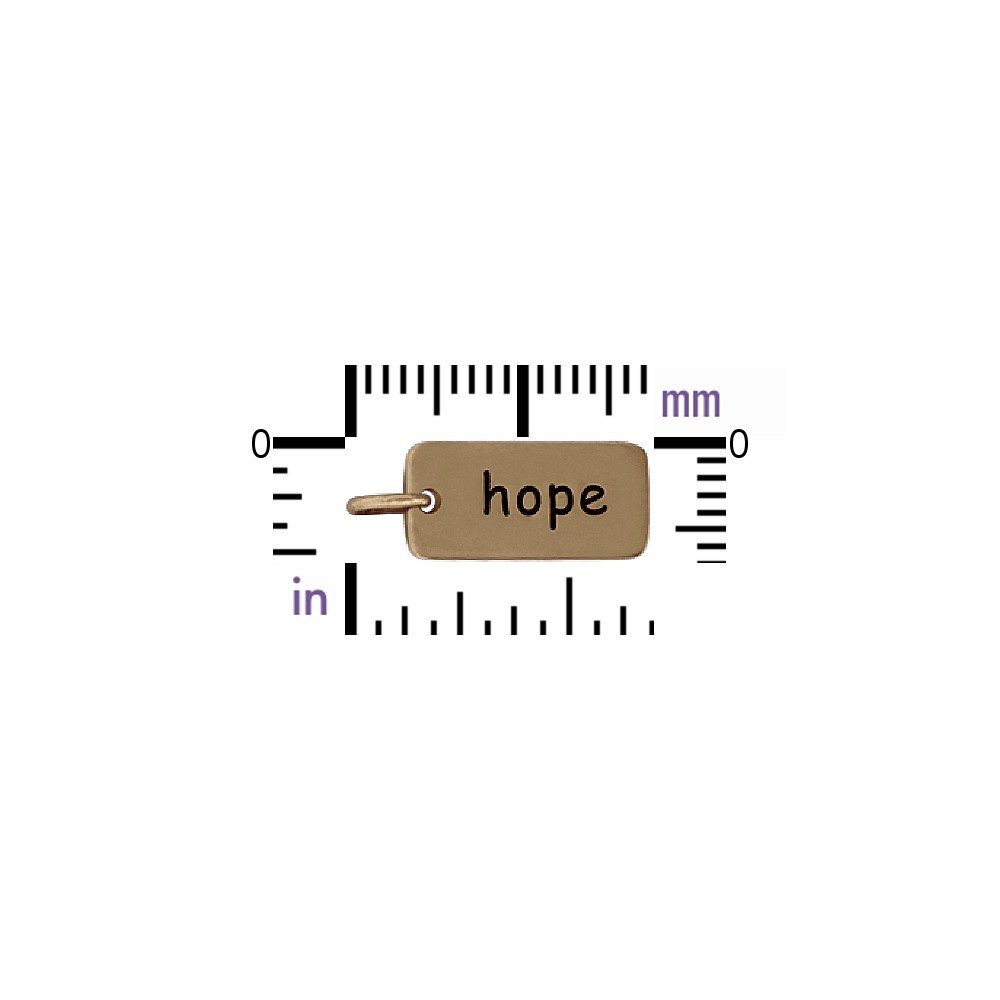 Hope Word Jewelry Charm - Bronze DISCONTINUED