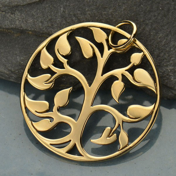 Large Tree of Life Pendant and Earrings Setor Separately.