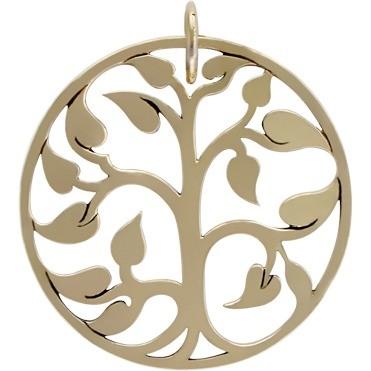 Large Tree of Life Jewelry Pendant - Bronze 34x30mm