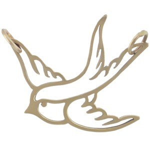 Swallow Bird Charm Link - Bronze DISCONTINUED