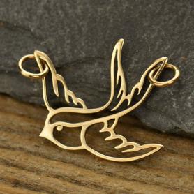Swallow Bird Charm Link - Bronze DISCONTINUED