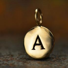 Alphabet Charms Letter A - Bronze 13x8mm