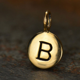 Alphabet Charms Letter B - Bronze 13x8mm