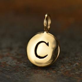 Alphabet Charms Letter C - Bronze 13x8mm