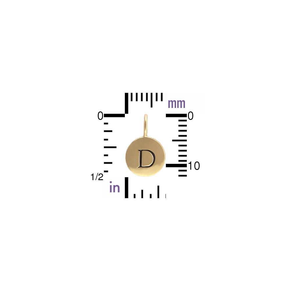 Alphabet Charms Letter D - Bronze