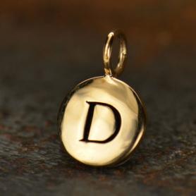 Alphabet Charms Letter D - Bronze 13x8mm